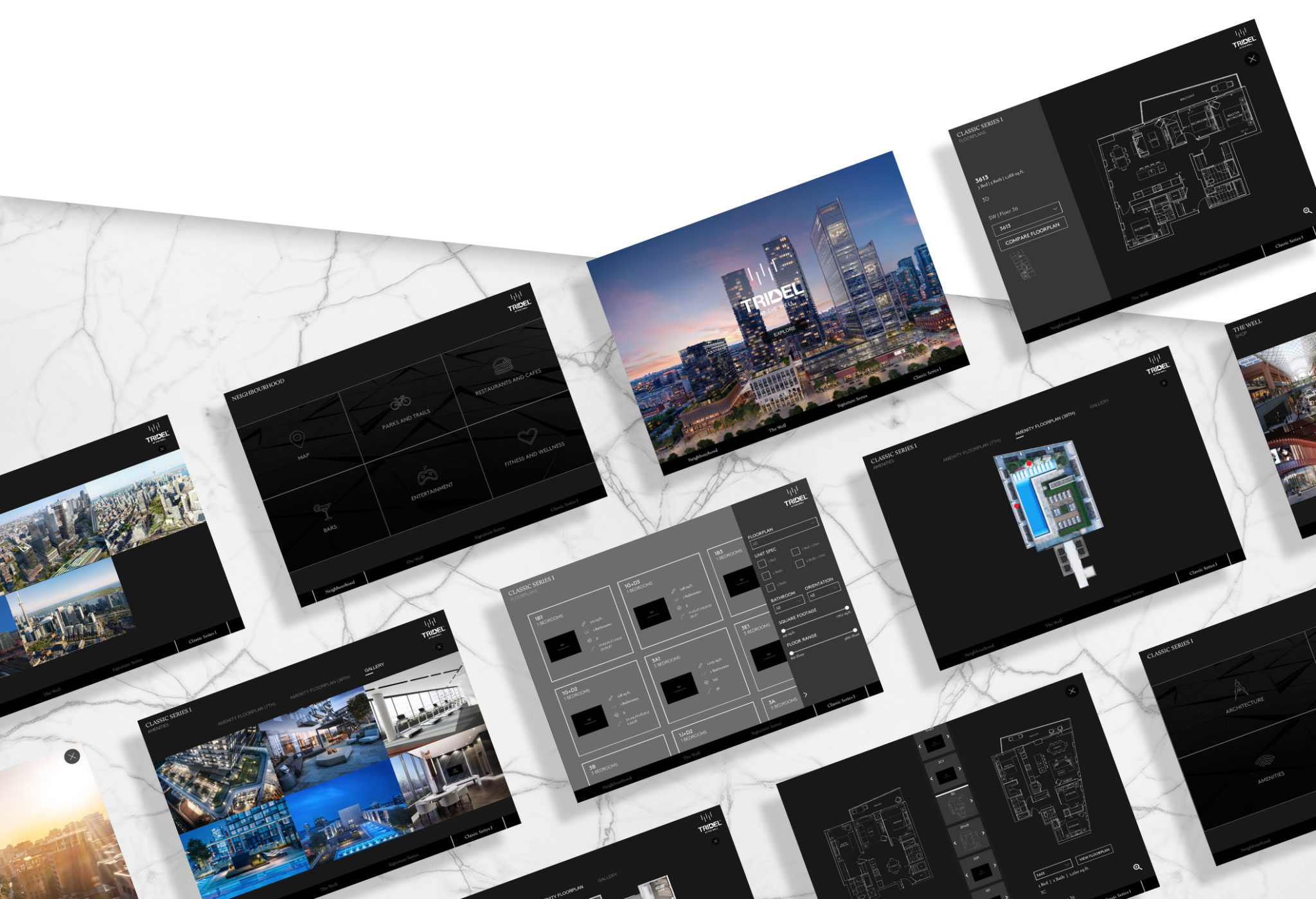 THE-WELL-2D-APP-MEDIA-WALL-IPAD-BUILDING-LIVING-TRIDEL-CANADA-SALES-CENTER-REAL-ESTATE-DEVELOPMENT
