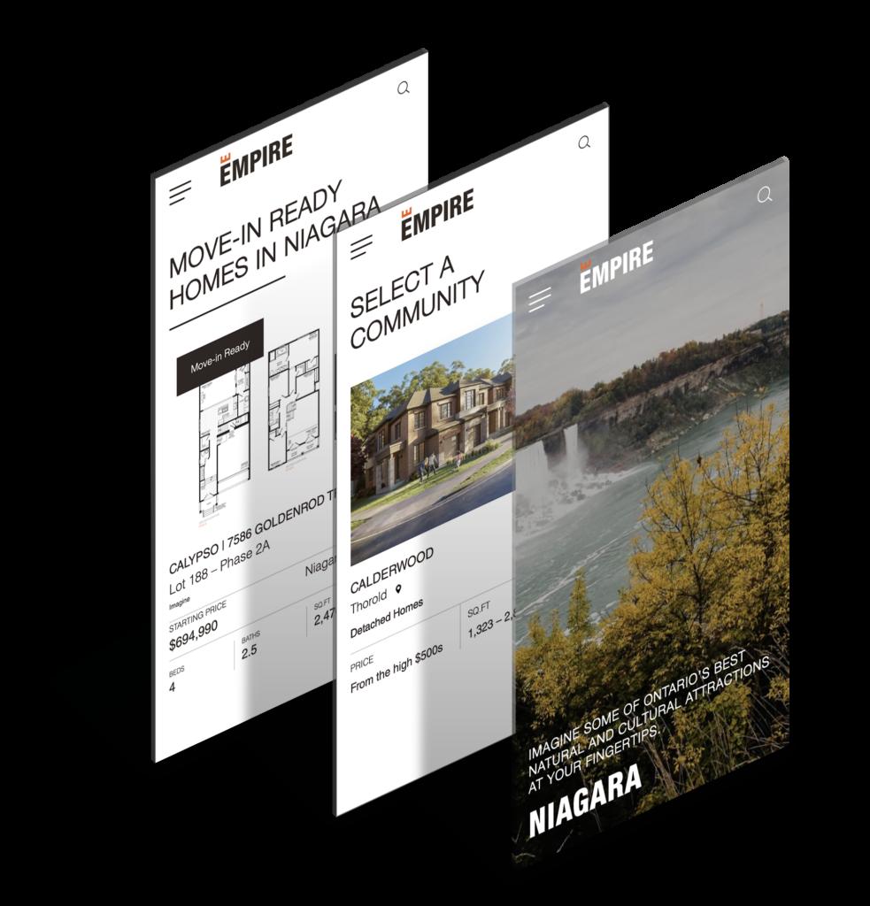 BUILDER - DESIGN - DEVELOPMENT - EMPIRE - COMMUNITIES - RESOURCES - HOMEBUYER - FAQ - HOME